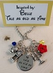 Disney inspired necklace  **Belle**Beauty and the Beast-Tale as old as time